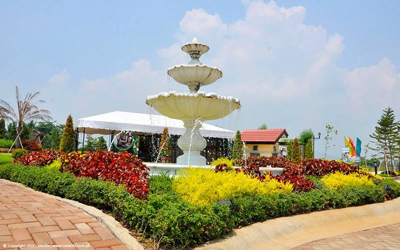 Camella Balanga fountain and garden