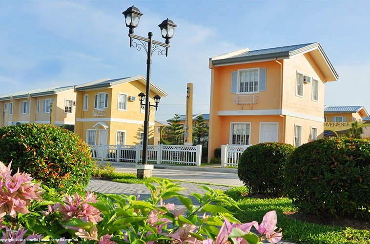 Camella Heights house and lot units with garden