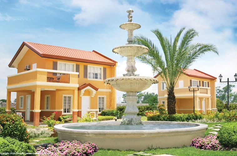 Camella Isabela fountain and house and lot with car port and balcony