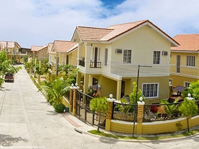 Camella Heights community with corner house and lot