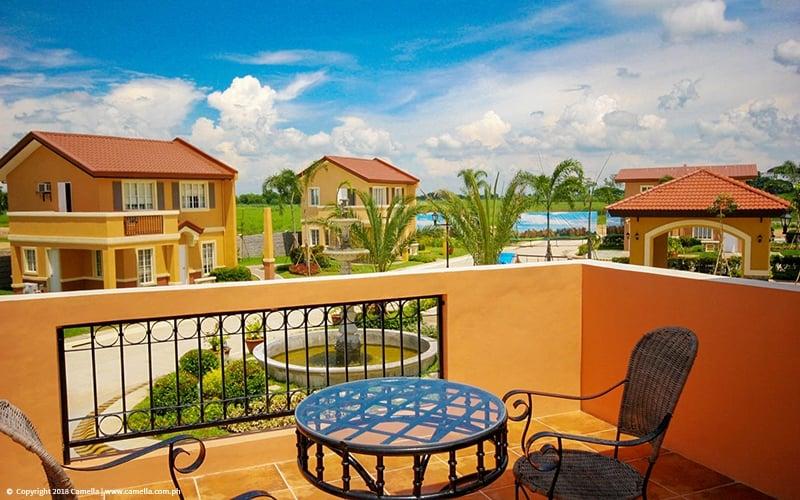 Camella Balanga Heights balcony overlooking house and lot units