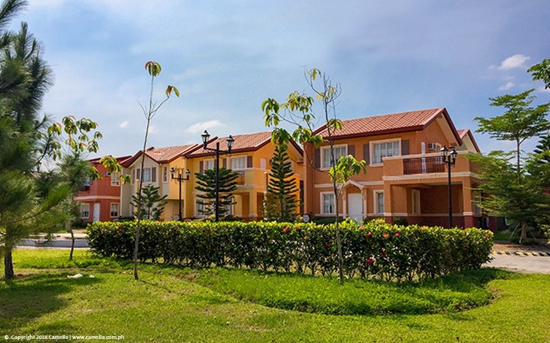 Camella Balanga Heights house and lot units with garden