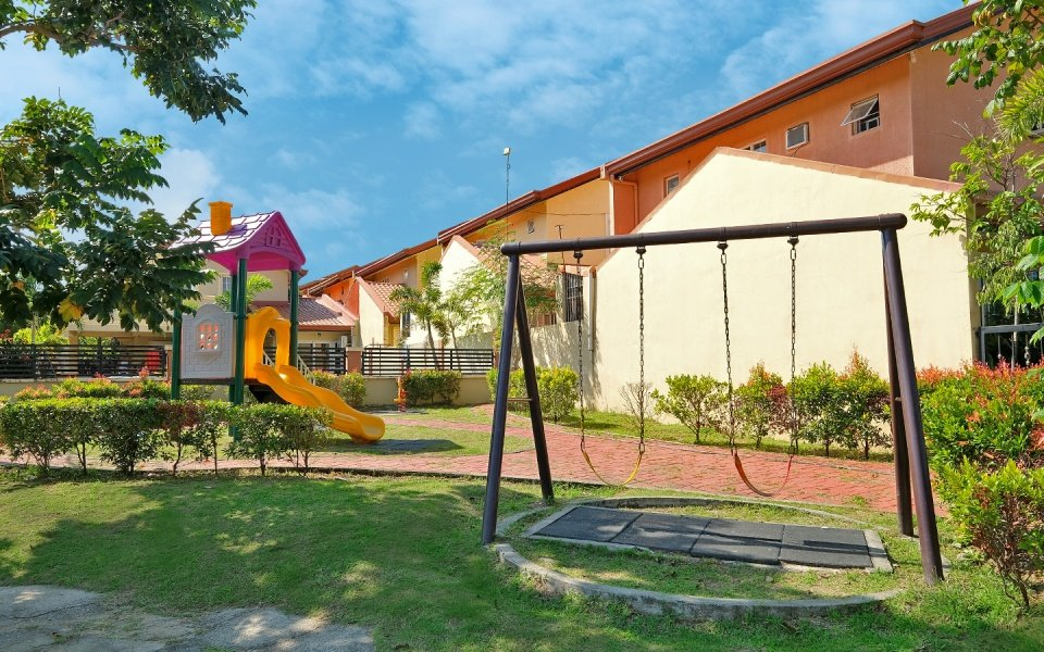 Camella Bataan playground with swings and slide
