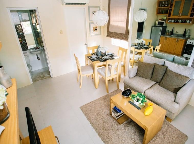 Bella living and dining area interior design