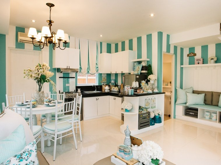 Cara home ground floor blue and teal interior design
