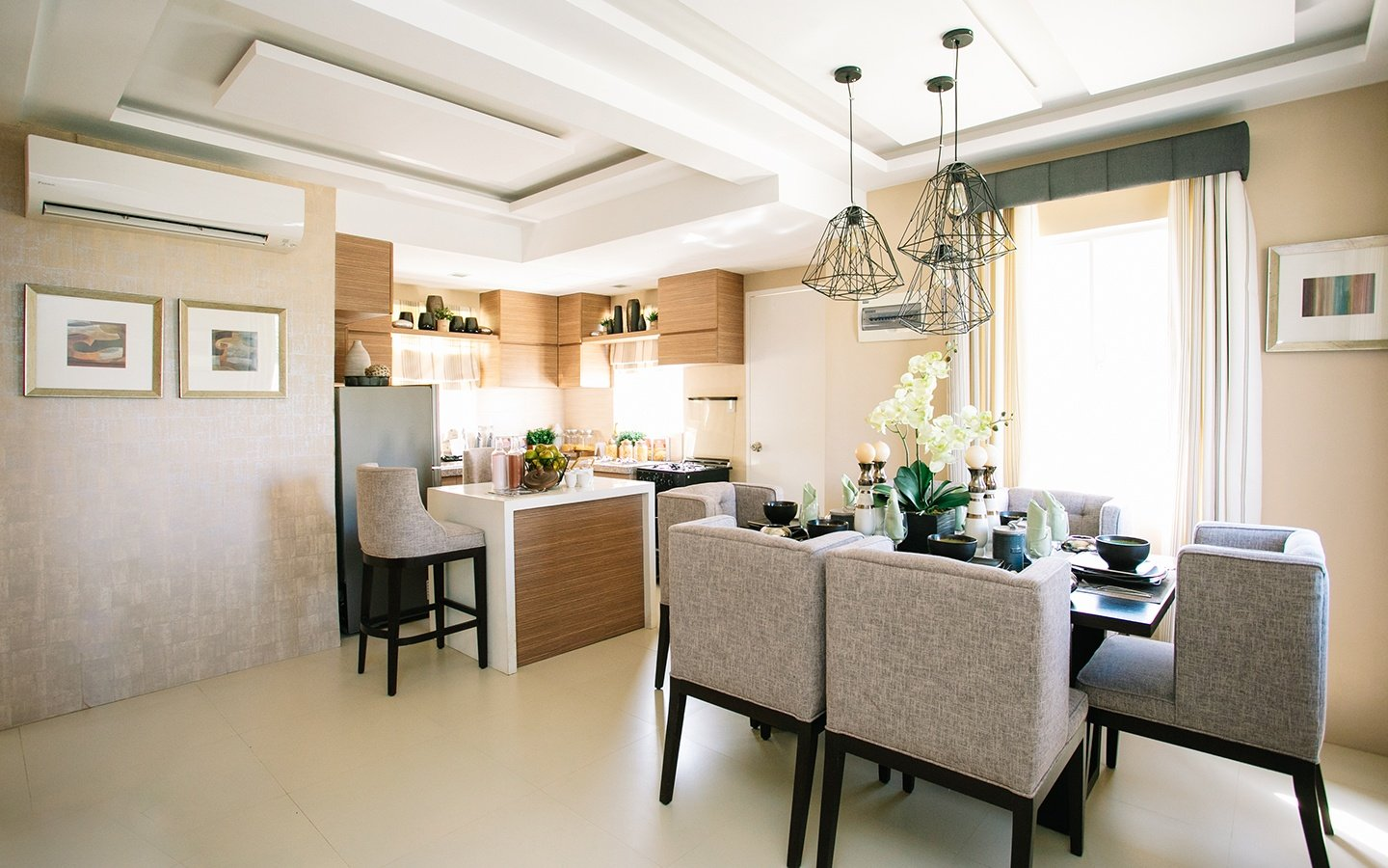 Dana home dining and kitchen areas