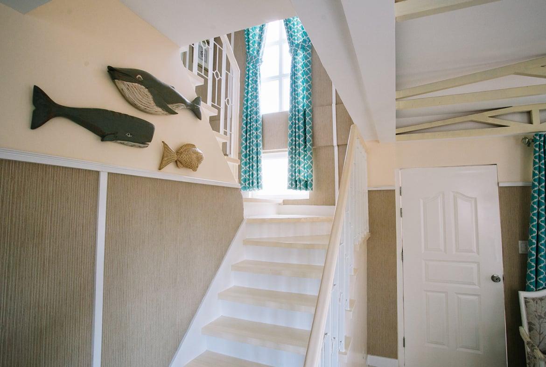 Freya home front door beside stairs