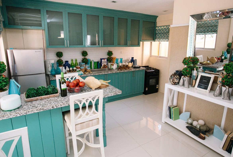 Freya home kitchen area with bar