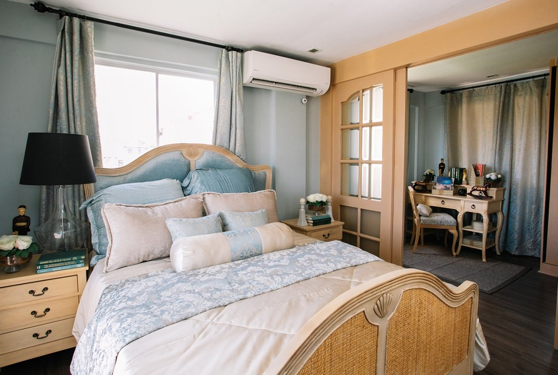 Greta master bedroom with walk-in closet