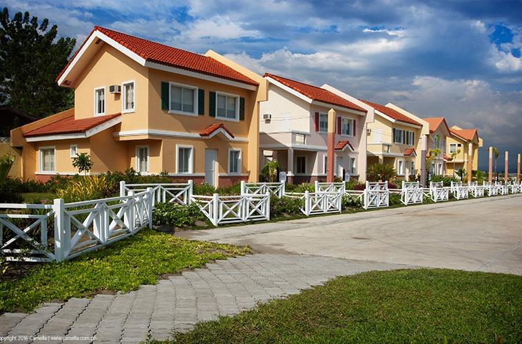 Camella Pili community with house and lot units