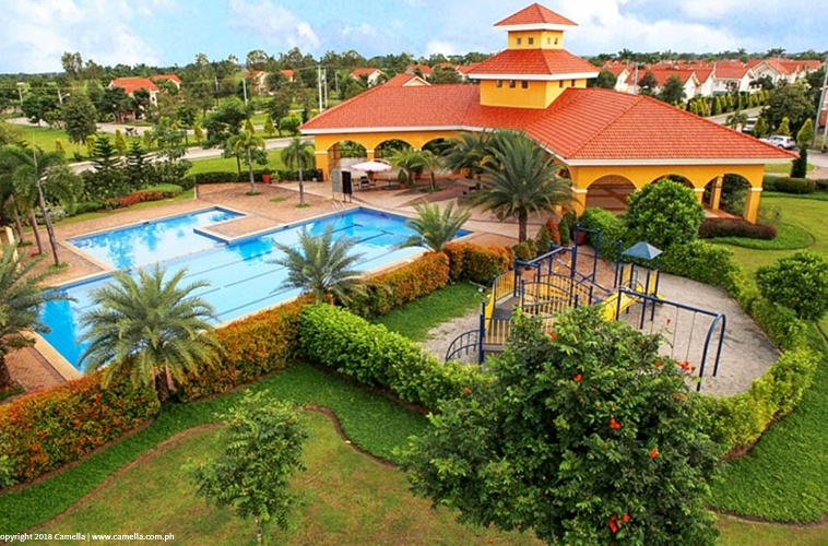 Camella Sorrento amenities like clubhouse, swimming pool, and playground