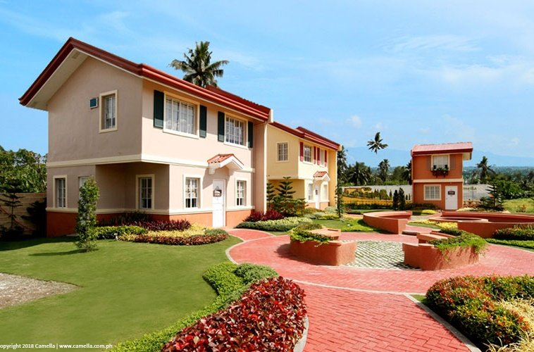 Camella Tagum Trails house and lot units with garden