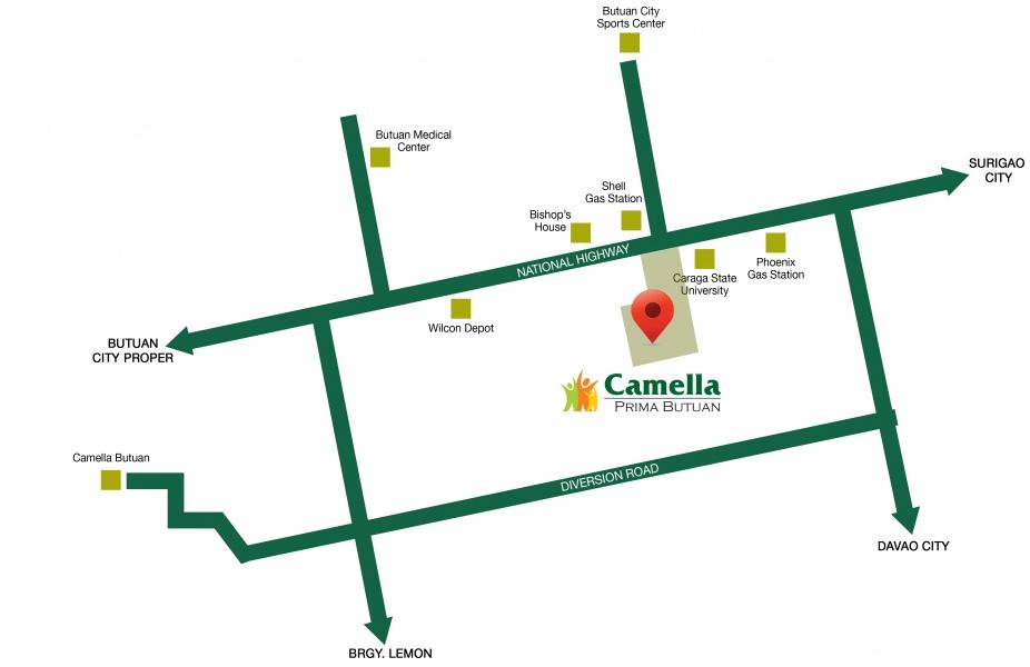 Camella Prima Butuan vicinity map