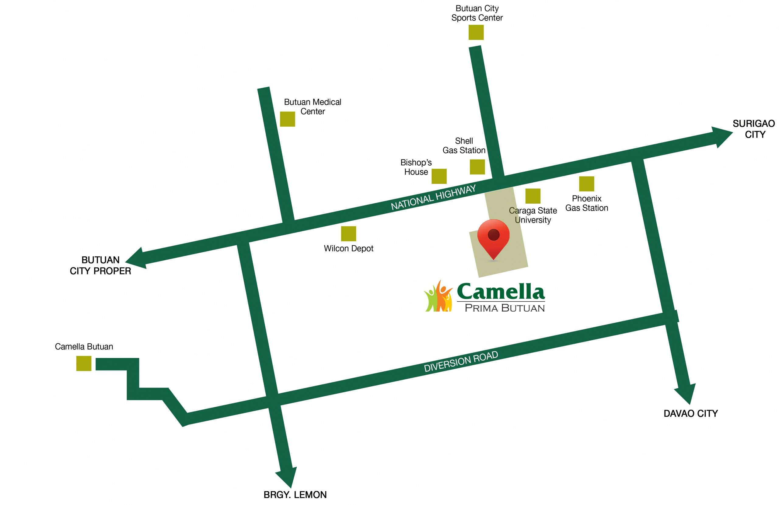 Camella Prima Butuan vicinity map