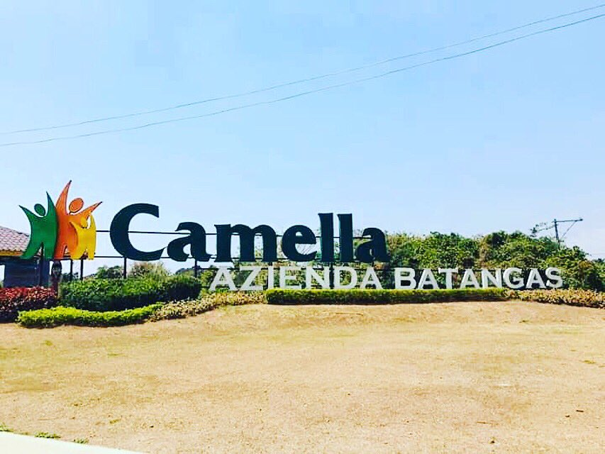 House and Lot for Sale in Batangas- Camella Azienda Signage